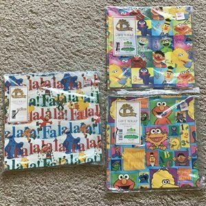 Sesame Street Gift Wrap 14 sheets total! NEW